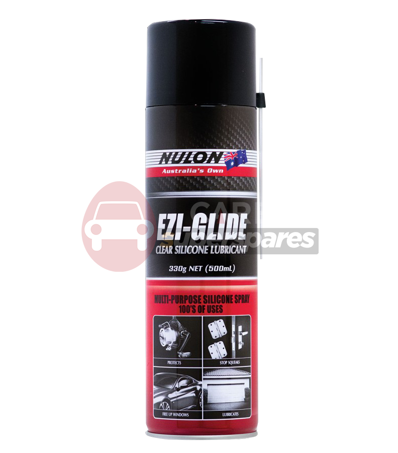 nulon ezi glide clear silicone spray 330g can ezi330 quality guarantee. Black Bedroom Furniture Sets. Home Design Ideas